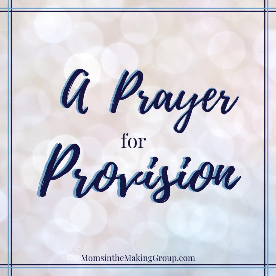 a prayer for provision