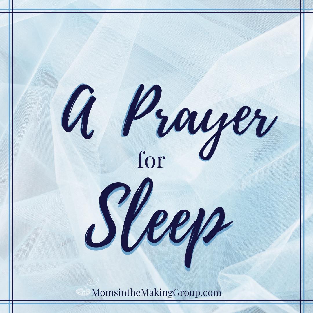 a prayer for sleep