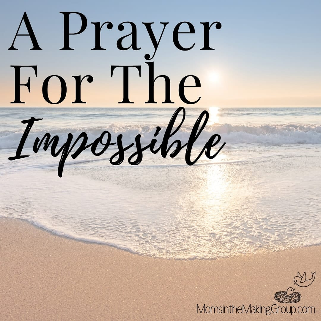 a prayer for the impossible